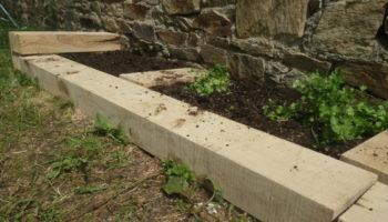 Traverses pour abords de jardin